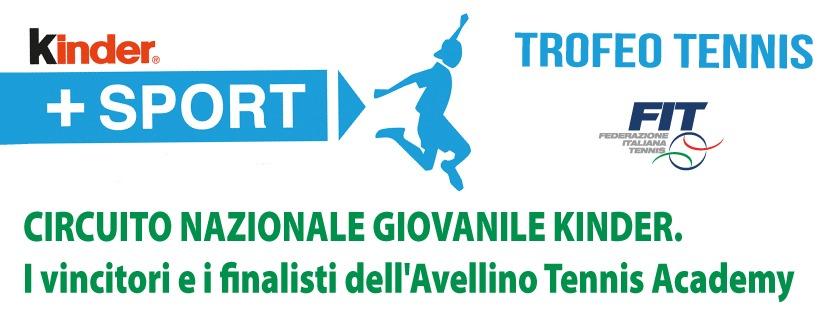 CIRCUITO-NAZIONALE-GIOVANILE-KINDER.-I-vincitori-e-i-finalisti-dell'Avellino-Tennis-Academy