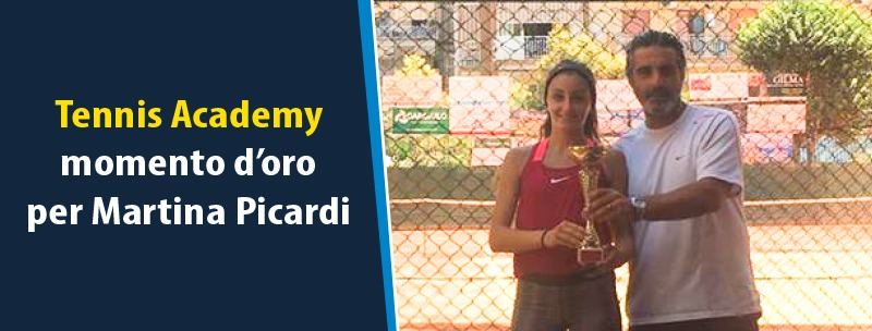 Tennis Academy, momento d'oro per Martina Picardi